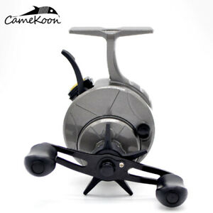 Winter Graphite Frame and Spool Inline Ice Fishing Reel with Sensitive Trigger