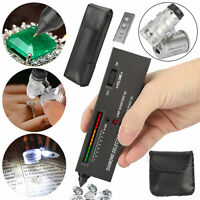 Portable Diamond Gemstone Tester +60X Illuminated Loupe Jeweler Diamond Tool Kit