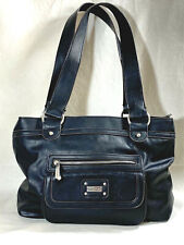 Tyler Rodan black bag satchel purse faux leather handbag logo lining soft chic