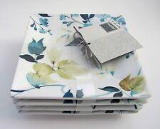 "222 Fifth TAKARA Floral Pattern Dessert Appetizer Square 5.5"" PLATES SET-4 NEW"