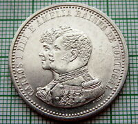 PORTUGAL CARLOS I 1898 500 REIS, 400th Anniversary - Discovery of India, SILVER