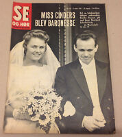 BARON BERNHARD SCHAFFALITZKY DE MUCKADELL WEDDING BOSSEN ON Danish Magazine 1961