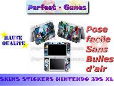 Skin sticker auto-collant vinyl lego super héros pour console nintendo 3DS XL LL