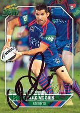 ✺Signed✺ 2011 NEWCASTLE KNIGHTS NRL Card ISAAC DE GOIS