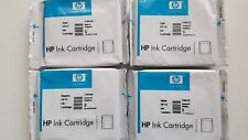 HP 13 Black, Cyan, Magenta, Yellow Ink Cartridges  C4814A /15A/16A/17A - Genuine