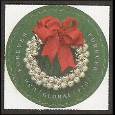 US 4936 Silver Bells Wreath global forever single MNH 2014