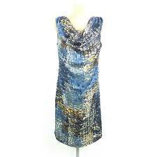 CONLEYS Abendkleid Etuikleid Festlich Blau Bunt Gr. 36 S (BG133)