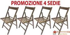 SF SAVINO FILIPPO 37 x 40 x 44 cm Set 4 Sedie Pieghevoli  in Legno Noce