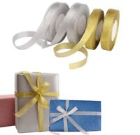 25-100 yard Gold Silver GLITTER Sparkle Organza RIBBON ROLL 6, 10, 15, 25, 38mm