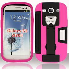 Samsung Galaxy S III S3 KICKSTAND Case Bottle Opener Card Holder Black Hot Pink