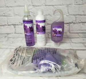 AVON Naturals Violet & Lychee Shower Gel Body Spray and Lotion NEW