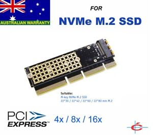 NVMe M.2 NGFF M-Key SSD to PCI-E 3.0 Adapter Converter - Fit M2 SSD in Computer