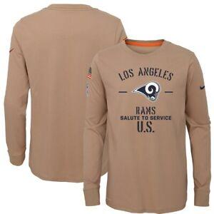 New Nike Los Angeles Rams XL Salute To Service Long Sleve Dri-fit Tan Shirt
