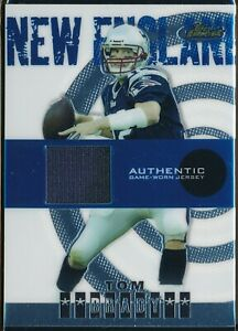 2004 TOPPS FINEST TOM BRADY GAME USED JERSEY CARD #105  NM-MT