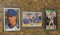(3) Joe Girardi 1989 Upper Deck Donruss Fleer Rookie Card Lot RC Cubs Yankees