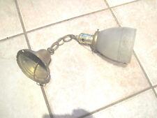 Antique Brass Ceiling Light Fixture VTG 1920s one shade