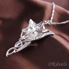 Fashion Lord Of The Rings Chain Arwen's Evenstar Necklace Pendant Chain Jewelry