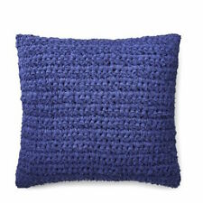 "RARE $170+tax RALPH LAUREN JENSEN BLUE RAG KNIT DECORATIVE THROW 18"" PILLOW NWT"