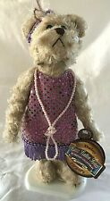 Brass Button Bears Daisy 1920s Version Collectible Bear With Stand NWT
