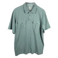 Northwest Territory Mens Utility Polo Shirt Size XL Green Short Sleeve Cotton