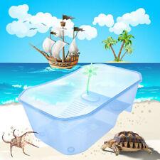 New listing Us Reptile Turtle Tortoise Vivarium Box Aquarium Tank with Basking Ramp