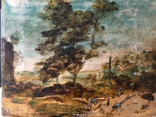Tableau ancien Huile sur toile. Paysage