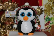"""Ty Beanie Boos Penelope The Christmas Penguin Buddy-9""""-2017-Mwnmt- Nice Gift"""