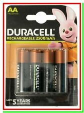 4 DURACELL Ricaricabili AA Batterie Pile STILO DX1500 HR6 2500 mAh Last Upgrade