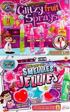 Set Of 2 Girls Science Labz Kits - Make Your Own Smellies Jellies/Fruity Sprays