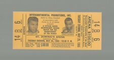 1965 CLAY VS LISTON  FULL TICKET  MINT  HEAVYWEIGHT CHAMPIONSHIP  $100 GOLD WOW