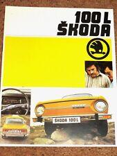 1974-77 SKODA 100L Sales Brochure - Mint Condition - UK Market