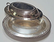 Fenwick Wm Rogers Silver Covered Casserole Serving Dish