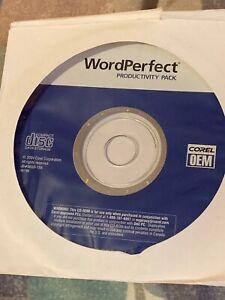 Corel WordPerfect Productivity Pack  2004 New Sealed