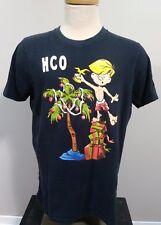 Hollister Men's Short Sleeve Crew Neck Blue Christmas Graphic T Shirt Size XL