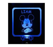Mickey Mouse Night Light Personalize Choose Color