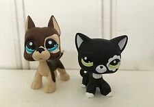 LPS Lot of 2 Little Pet Shops Great Dane & Black Cat, Girl Gift Toy Figurine