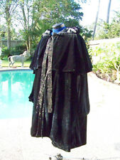 Twilight Eclipse Volturi Jane Black Velvet Cape Renissance Vampire Ladies size M