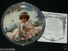 Puppy Love Plate by Sandra Kuck Friends for Keeps Collection COA