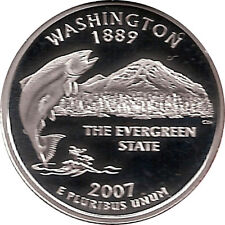 WASHINGTON 2007 -S Proof Silver State Quarter - DCAM