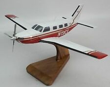 Piper Meridian Private Airplane Mahogany Kiln Dry Wood Model Small New