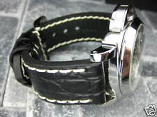 New BIG GATOR 24mm Black Grain LEATHER STRAP Watch Band PAM 1950 24 X1