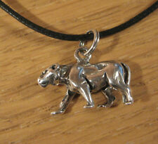 Pantera colgante de gato .925 Dije Plata Esterlina Collar USA MADE Joyería Kitty
