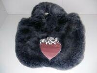 Disney store girls 101 Dalmatians grey furry bag purse plush