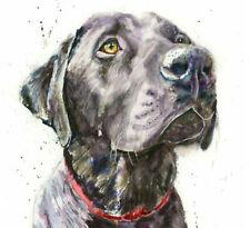 Fine Art Print CHARLIE the LABRADOR DOG watercolour by HELEN APRIL ROSE  690