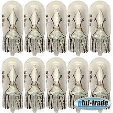 10 Stück T10 Lampe Lima w5w 5Watt Standlicht Glühbirne Leselampe Glassockel klar