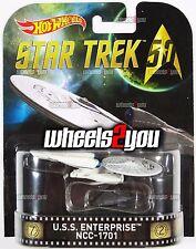 USS ENTERPRISE NCC-1701 - STAR TREK 50th Anniversary - 2016 Hot Wheels Retro Ent