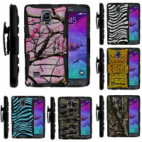 FOR SAMSUNG GALAXY PHONES HEAVY DUTY CAMO ARMOR HYBRID CASE COVER CLIP HOLSTER