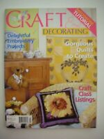 CRAFT & DECORATING Magazine Vol14No10 - Patchwork Embroidery Quilts Toys Art etc