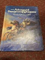 TSR Advanced Dungeons and Dragons Legends And Lore 1984 AD&D #2013