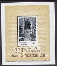 MUSIC :ANTIGUA/BARBUDA 2000 Bach Min Sheet  SGMS3103 never-hinged mint